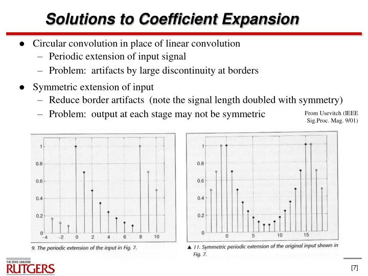 Solutions to Coefficient Expansion