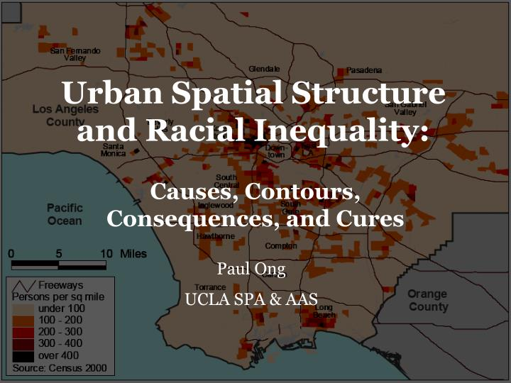 urban spatial structure and racial inequality n.
