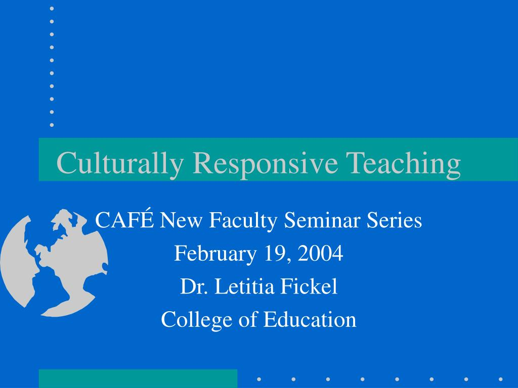 culturally responsive teaching l.