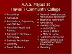 a a s majors at hawai i communtiy college