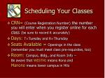 scheduling your classes1