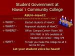 student government at hawai i communtiy college