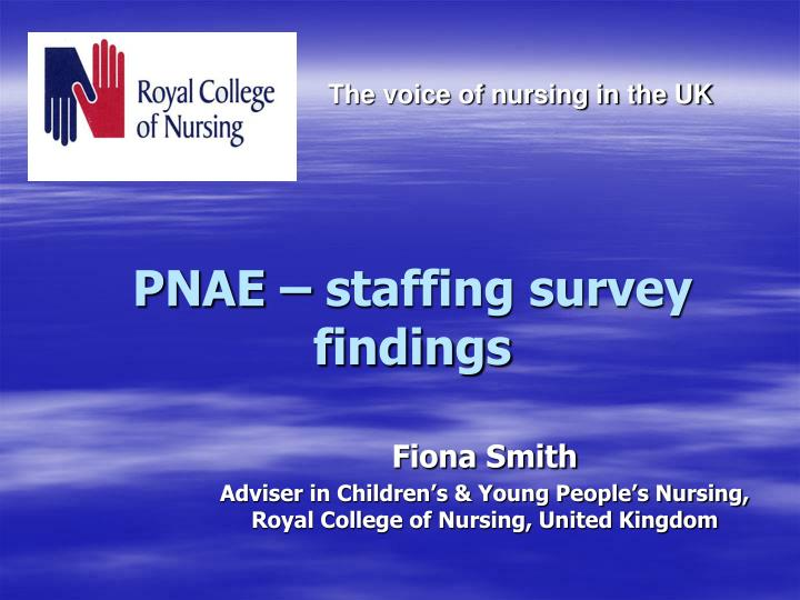 pnae staffing survey findings n.