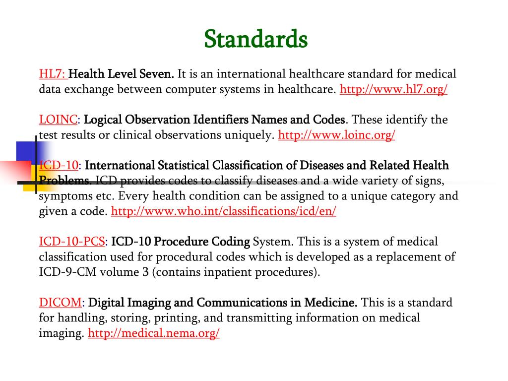 PPT - Medical Informatics PowerPoint Presentation - ID:84214