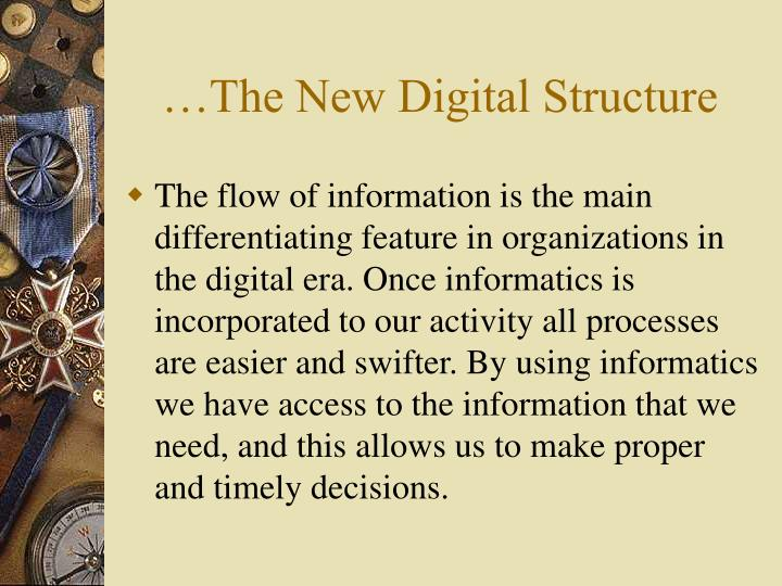 The new digital structure3