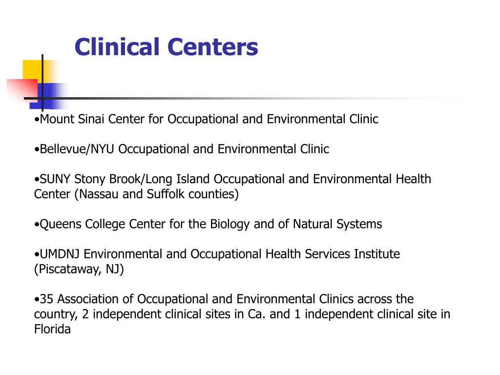 Clinical Centers