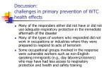 discussion challenges in primary prevention of wtc health effects