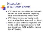discussion wtc health effects