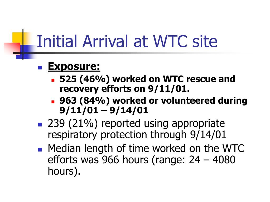 Initial Arrival at WTC site
