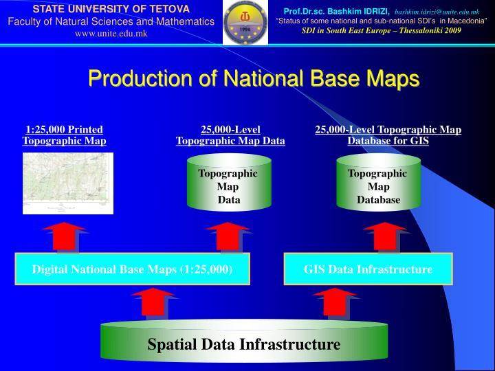 Production of National Base Maps