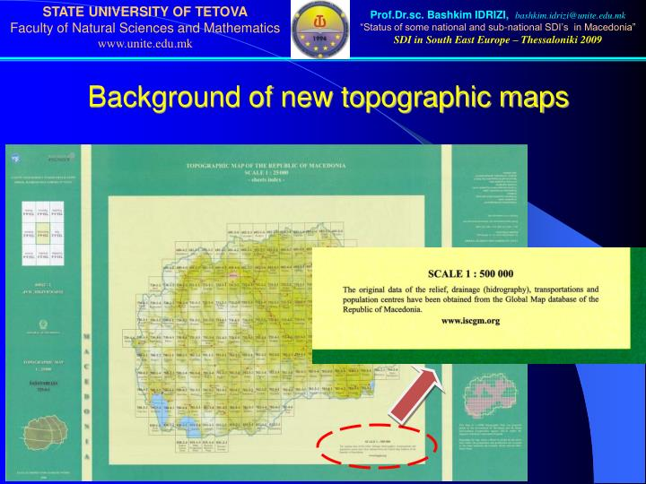 Background of new topographic maps