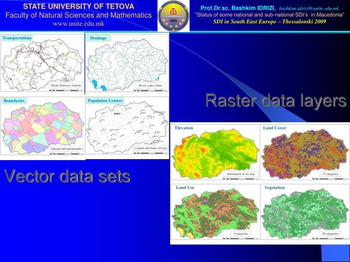 Raster data layers