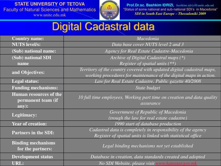 Digital Cadastral data