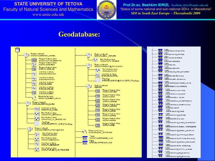 Geodatabase: