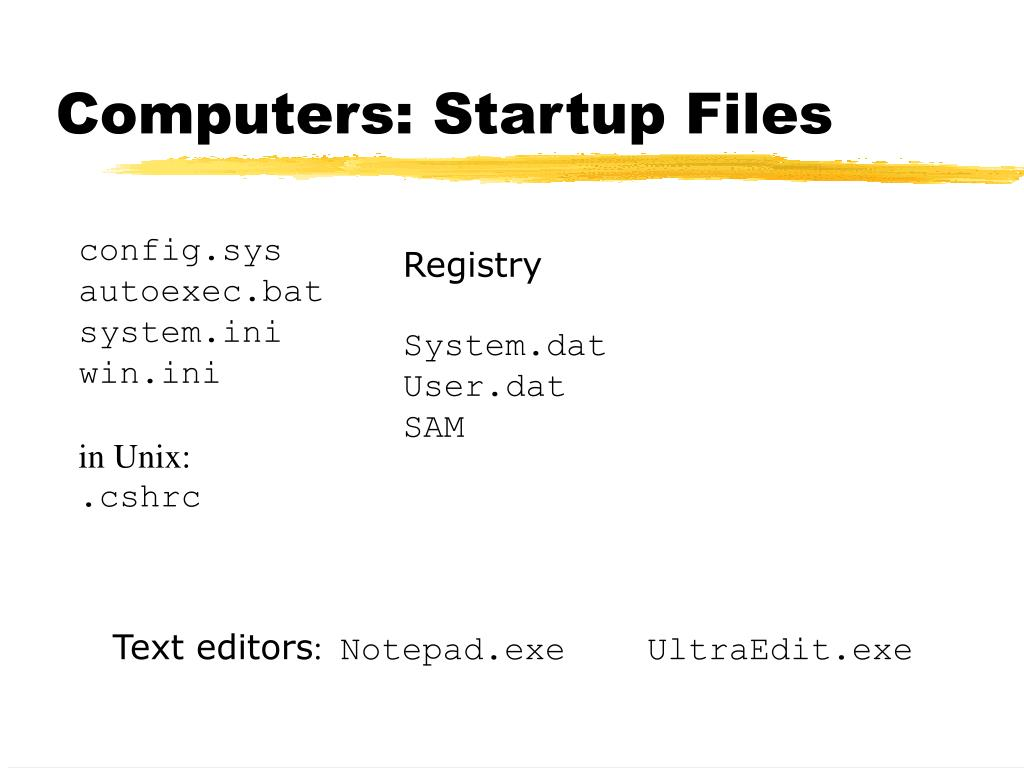 Computers: Startup Files