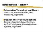 informatics what
