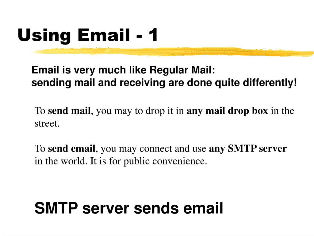 Using Email - 1
