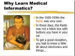 why learn medical informatics5