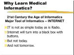 why learn medical informatics7
