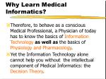 why learn medical informatics8