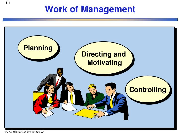 work of management n.