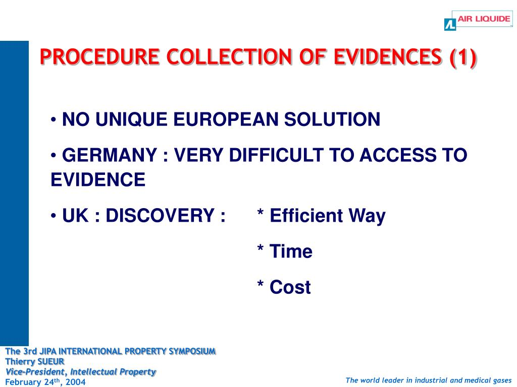 PROCEDURE COLLECTION OF EVIDENCES (1)
