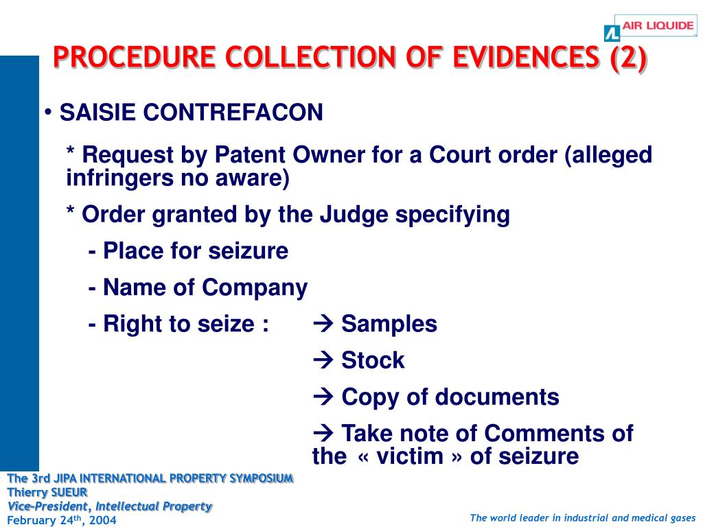 PROCEDURE COLLECTION OF EVIDENCES (2)