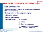 procedure collection of evidences 2