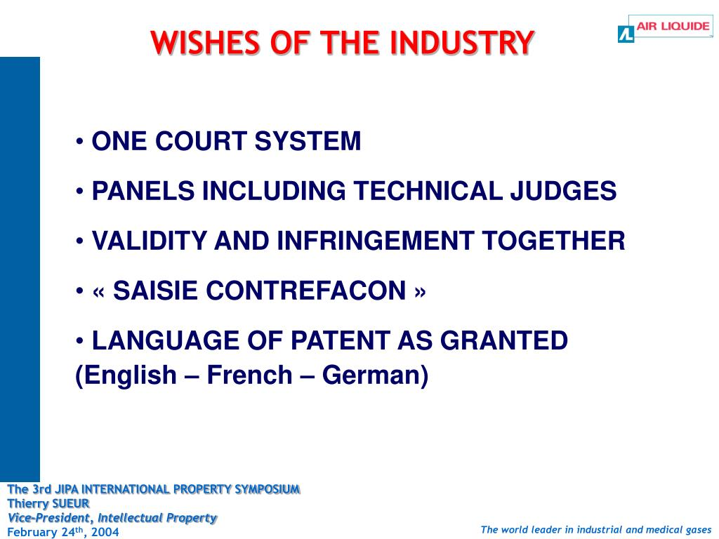 WISHES OF THE INDUSTRY