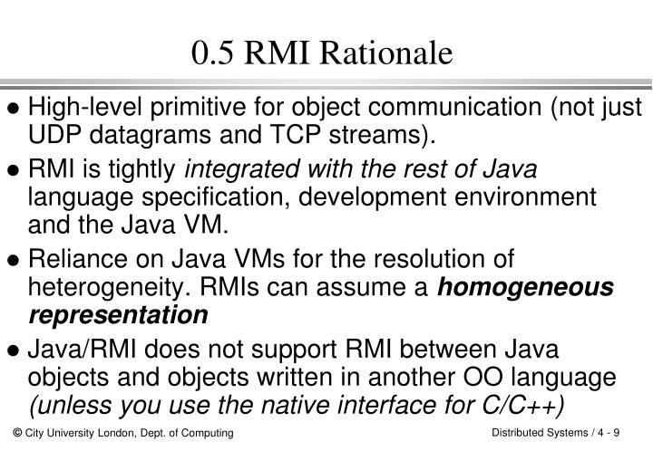 0.5 RMI Rationale