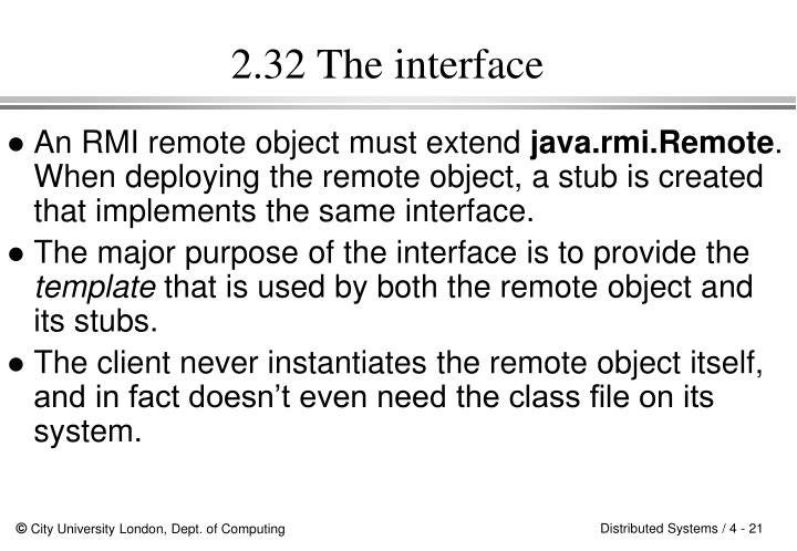 2.32 The interface