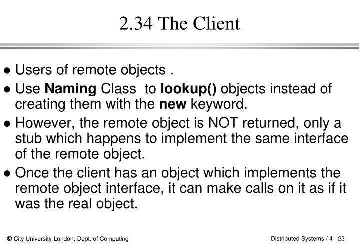 2.34 The Client