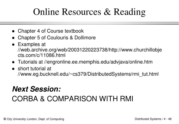 Online Resources & Reading