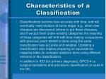 characteristics of a classification28