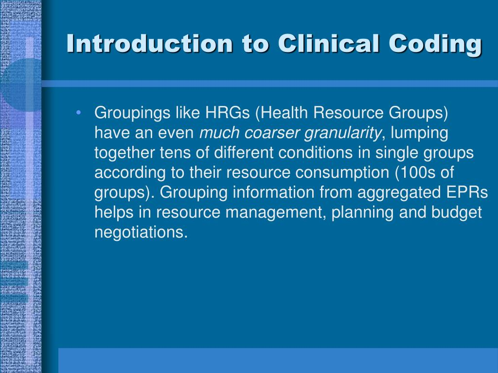 Introduction to Clinical Coding
