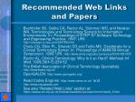 recommended web links and papers