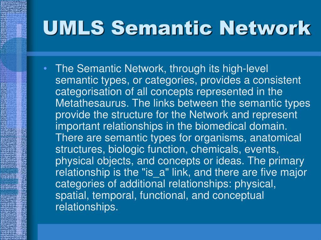 UMLS Semantic Network