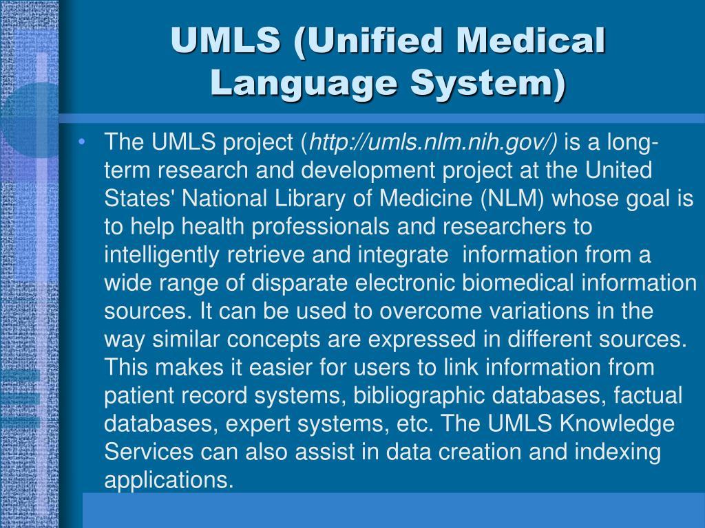 UMLS (Unified Medical Language System)