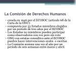 la comisi n de derechos humanos