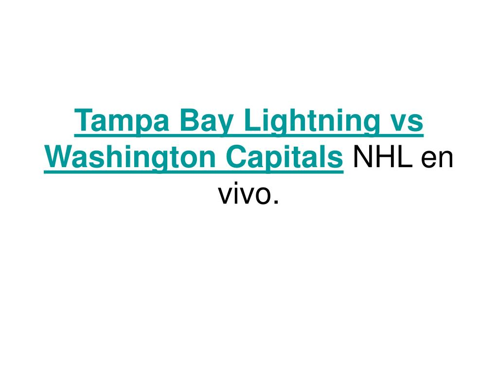 tampa bay lightning vs washington capitals nhl en vivo l.