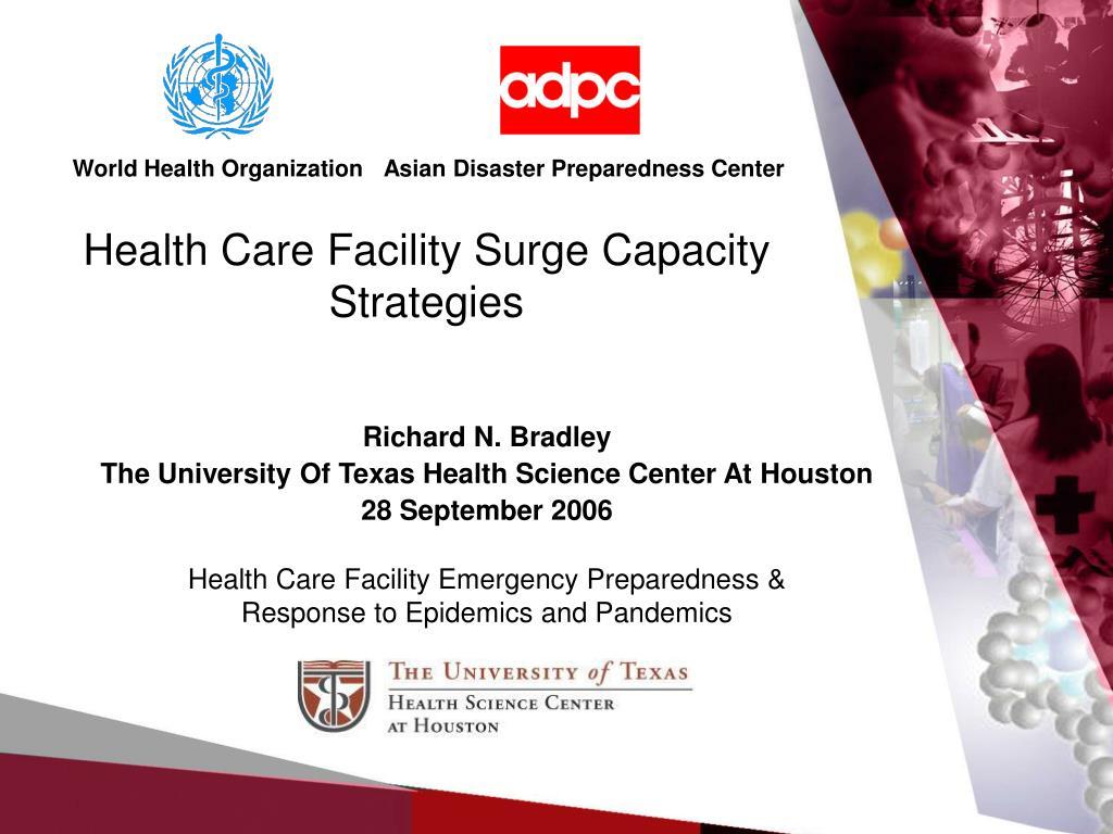 health care facility surge capacity strategies l.