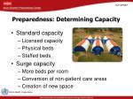 preparedness determining capacity