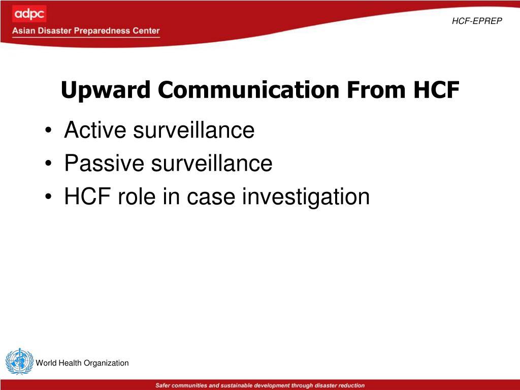 Upward Communication From HCF
