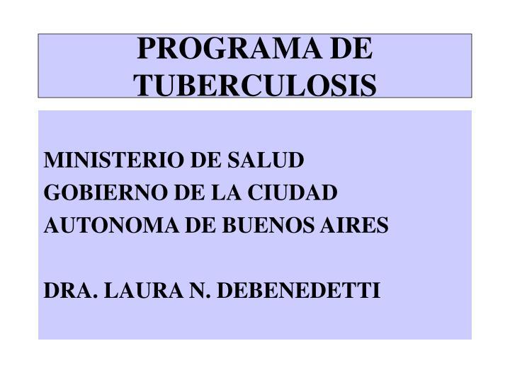 programa de tuberculosis n.