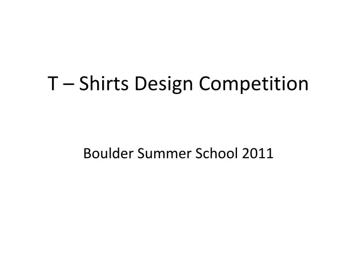 t shirts design competition n.
