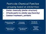 pesticide chemical families grouping based on similarities