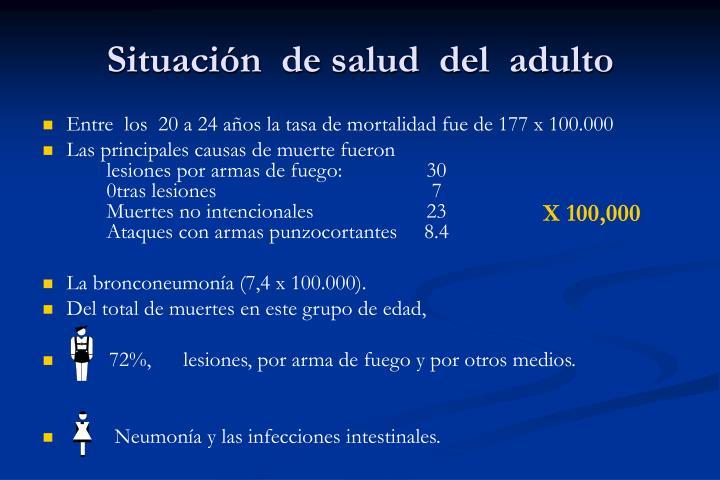 Situación  de salud  del  adulto