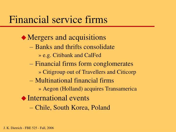 Financial service firms