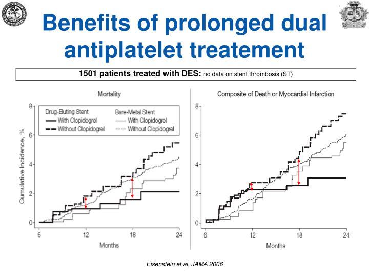 Benefits of prolonged dual antiplatelet treatement