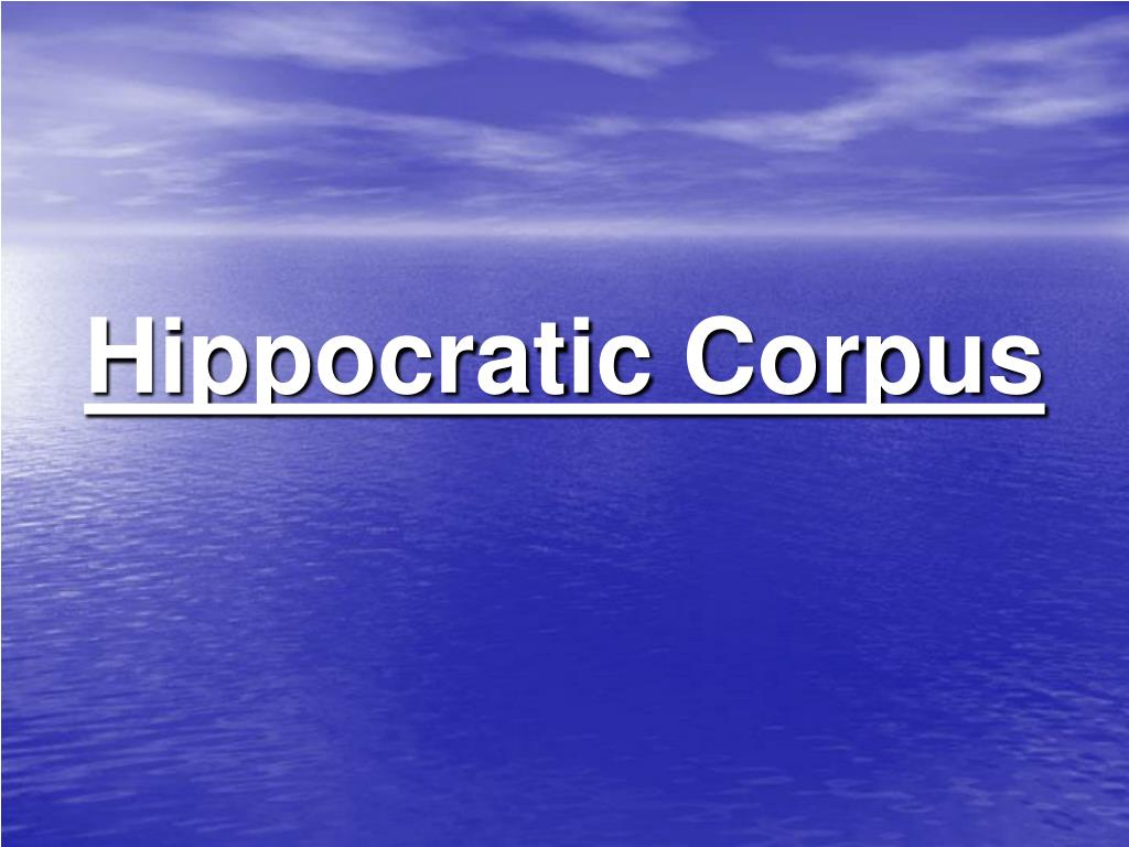 Hippocratic Corpus